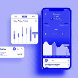 Imagenes del interfaz de la app de Iberdrola Clientes